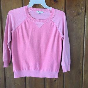 madewell sweatshirt style sweater orangey pink m.